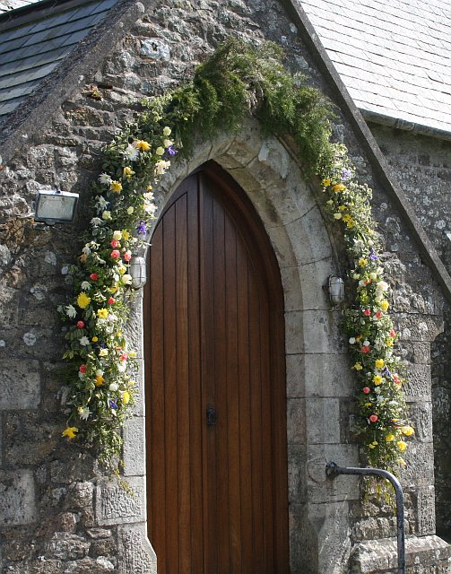 Floral Decoration on the Church Porch