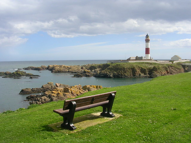 Buchan Ness Lighthouse and Island