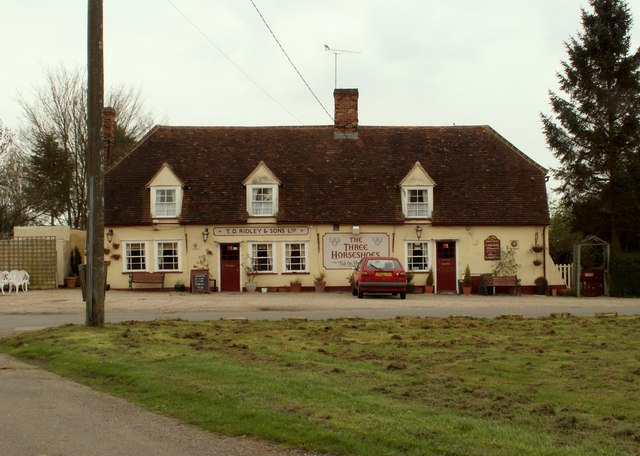 'The Three Horseshoes' public house, Bannister Green, Essex