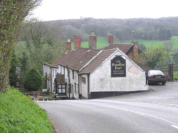 The Travellers Rest near Buncombe, Quantock hills