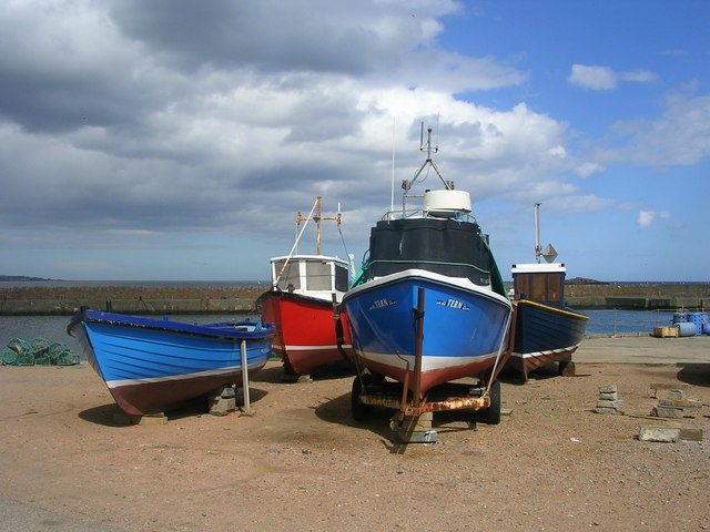 Boats at Boddam Harbour