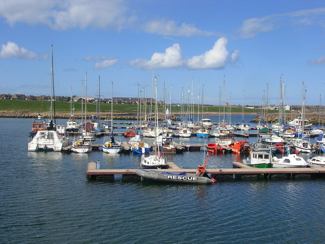 Boats at Peterhead Marina