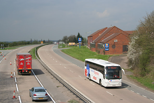 A46 Fosse Way near Willoughby-on-the-Wolds