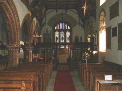 Inside St. Michael's Church, Llanyblodwel