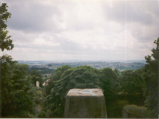 View from Crownhill Fort trig point, 1997