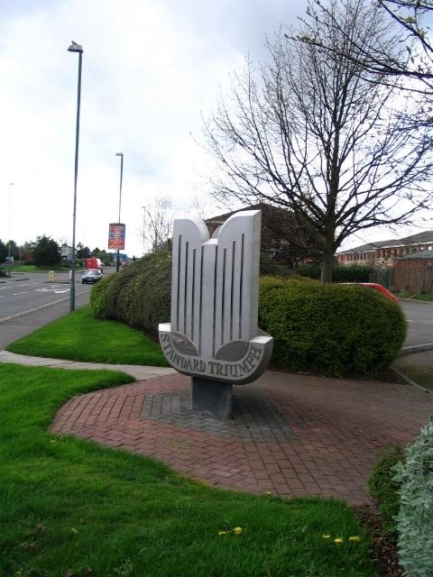 Standard Triumph monument, Herald Ave.