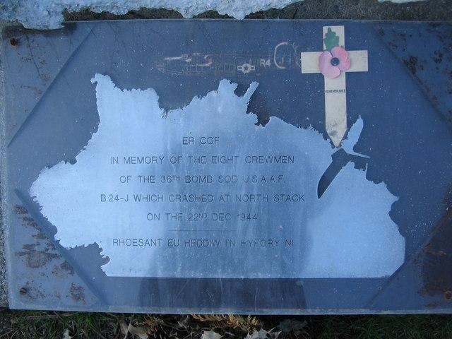 B24 Memorial plaque