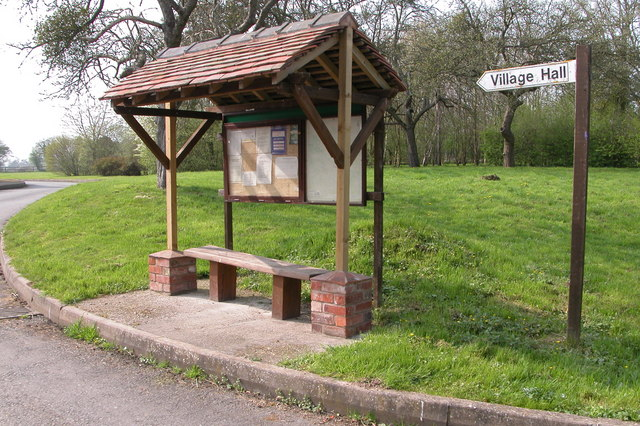 Shelter and Notice Board, Hampton Bishop