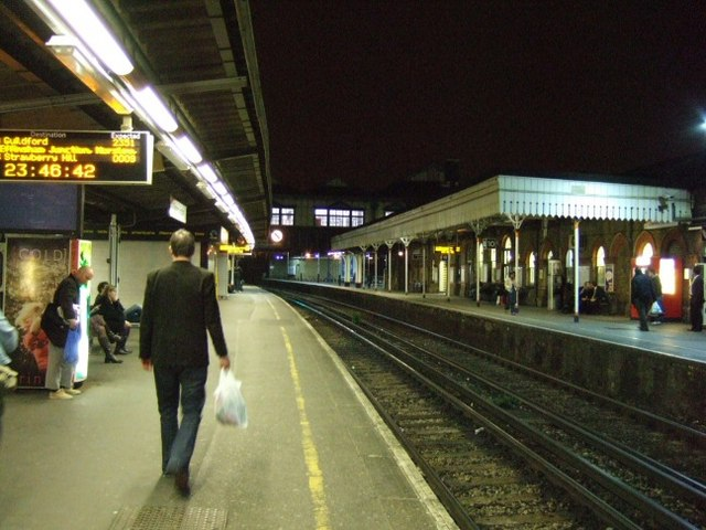 Clapham Junction at night