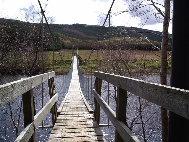 Foot Bridge to Langwell Farm