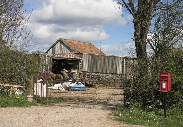 Post Box at Hillside Farm