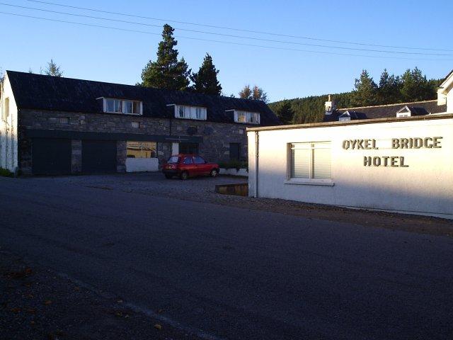 Part of the Oykel Bridge Hotel