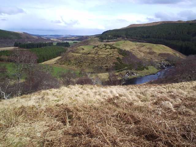 Looking over towards Torr a' Chorcain Fort & Dun