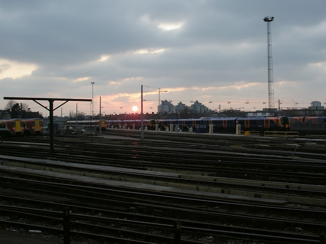 Sunset west of Clapham Junction