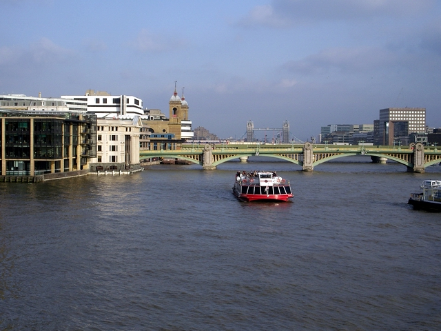 View down river from the Millennium Bridge