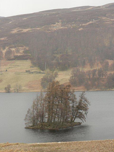 Crannog in Loch Freuchie