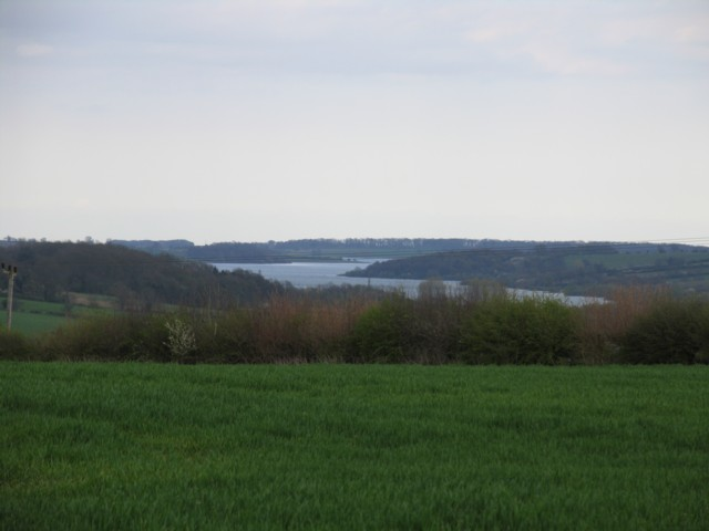 Rutland Water in the distance