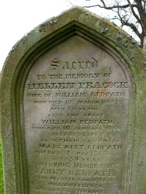 Gravestone at Bunkle Church