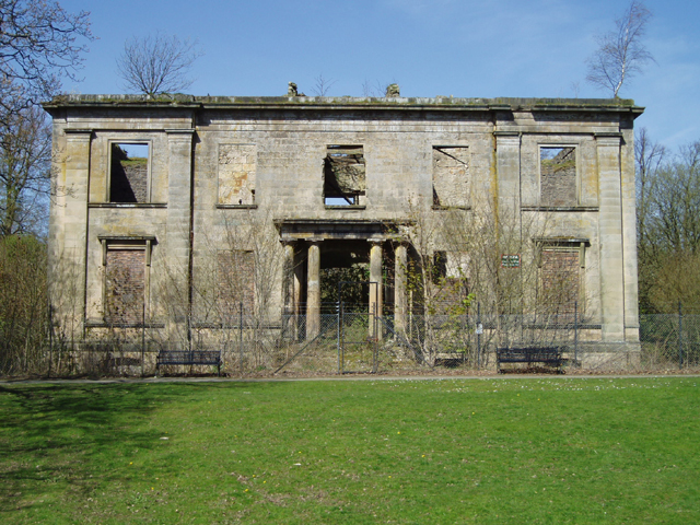 The ruins of Plean House