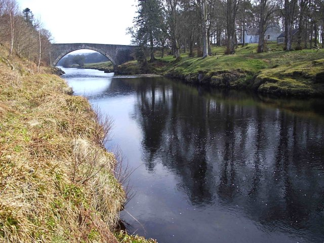 The Road Bridge crossing the River Carron