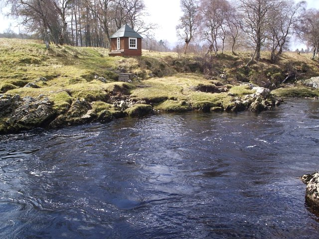 A Fishing Hut on the River Carron