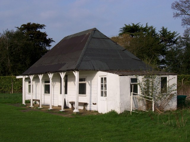 Cricket pavilion near The Hoo.