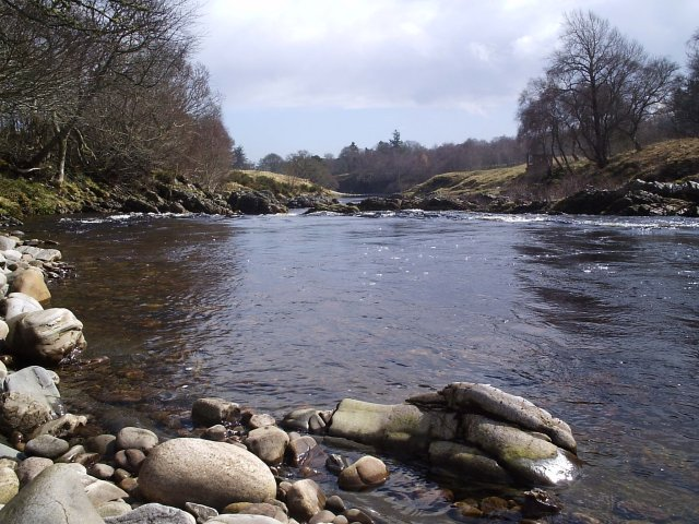 Looking down the River Carron