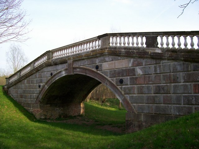Grand bridge over humble ditch
