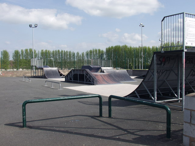 Skate Park at Caia Park, Wrecsam
