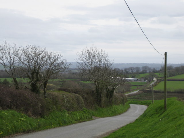 The road from Wiston to Colby Moor Lane
