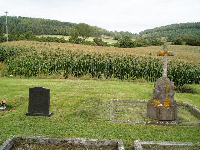 From Evenjobb church across farmland