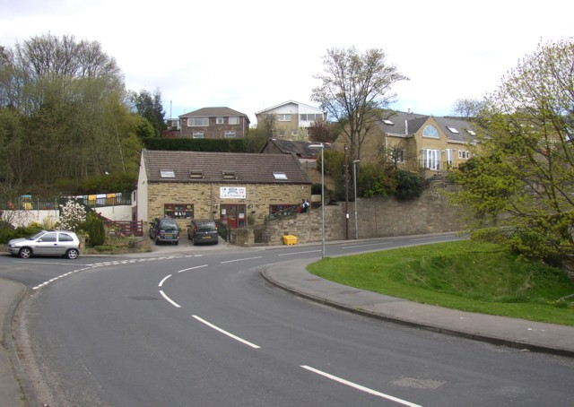 The nursery at the bend in the road, Netheroyd Hill, Fartown