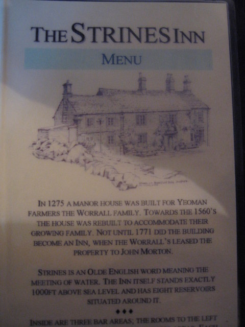 History of the Strines Inn