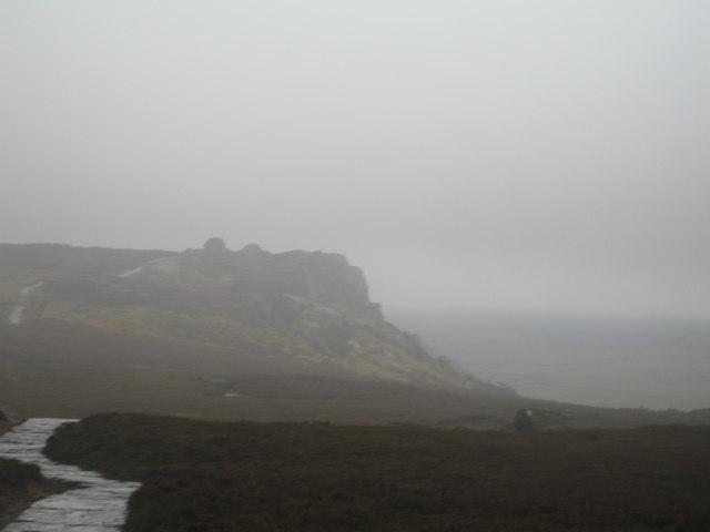 Dovestone Tor showing Derwent Edge