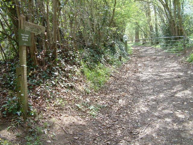 Footpath to Brookheath