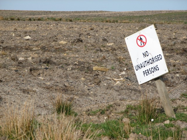 Excavated land