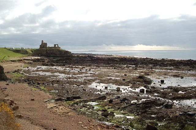 St Monans Castle and shore