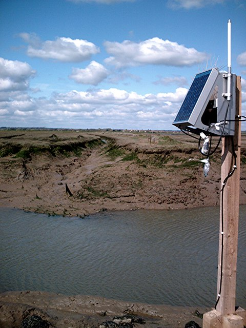 Tide gauge east of Brandy Hole marshes