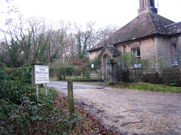 Lodge at entrance to Trigon