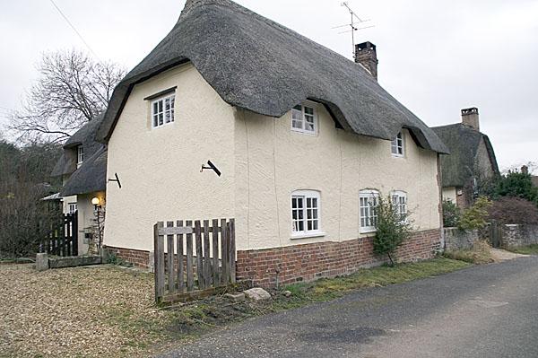 Thatched cottages at West Morden