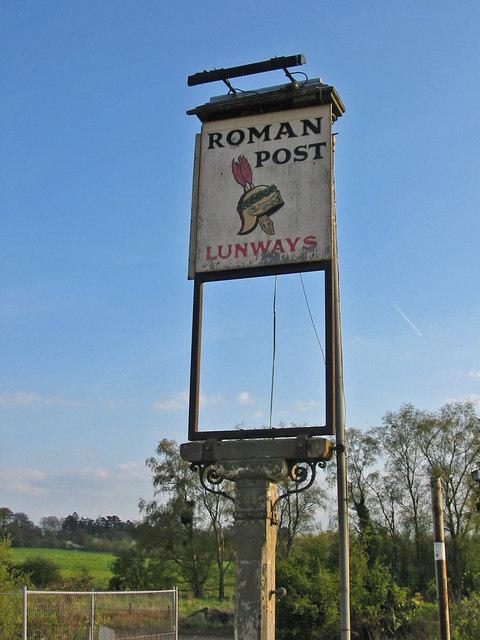 Pub sign Lunways Inn, Micheldever, Hants