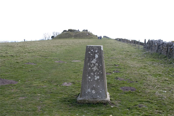 Trig point and tumulus, Swyre Head