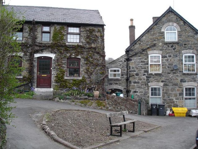 Stone houses at Llanfair TH