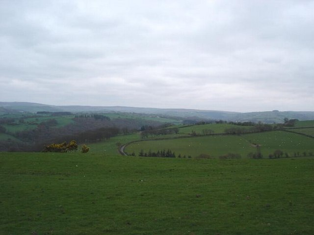 View over Allt Ddu