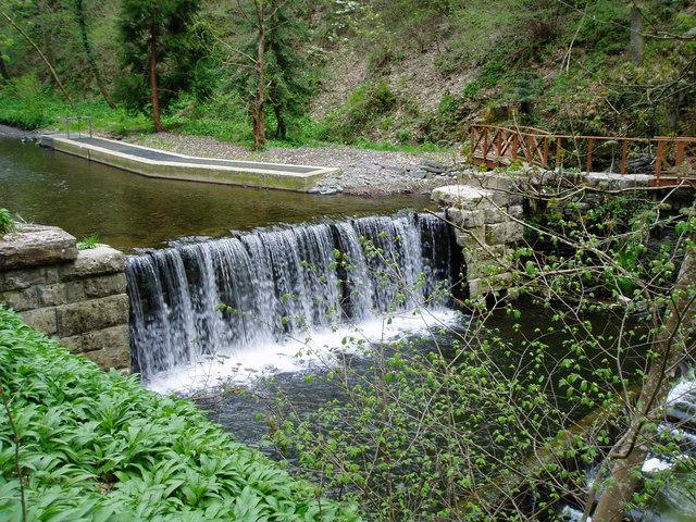 Weir on the River Clywedog