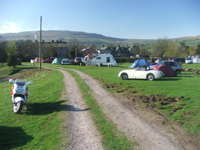 Campsite at Hardraw.