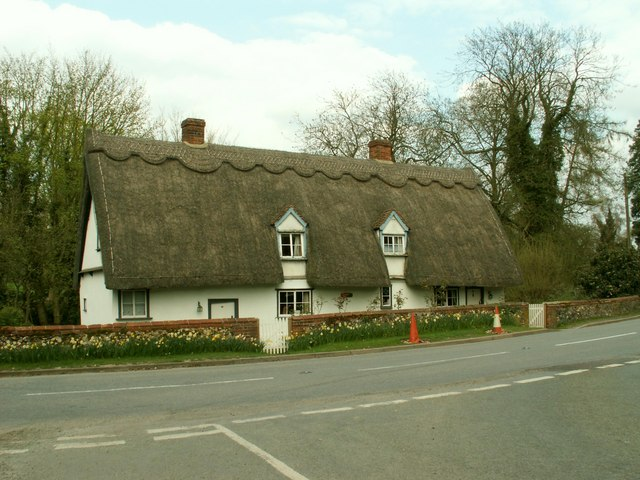 Thatched cottage, Great Wratting, Suffolk