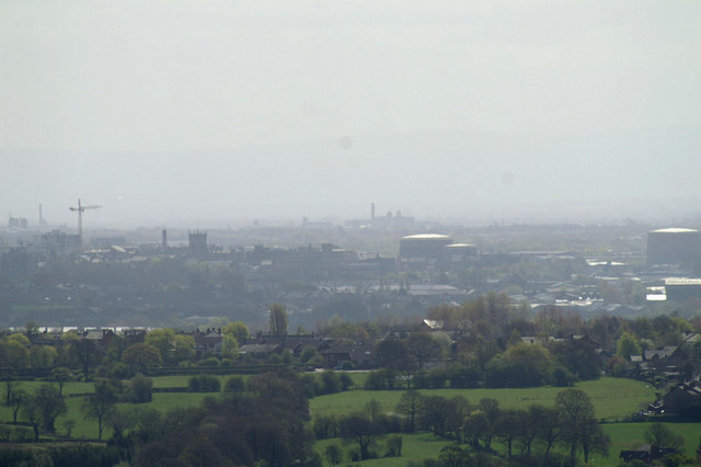 Wigan from the Parbold Viewpoint