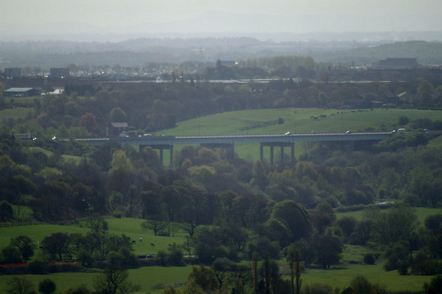 Gathurst Viaduct, carrying the M6 over Douglas Valley