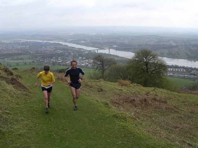 Track up Kilpatrick Hills overlooking Erskine Bridge